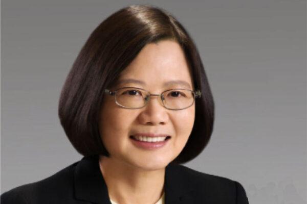 A smiling President Tsai, Ing-wen