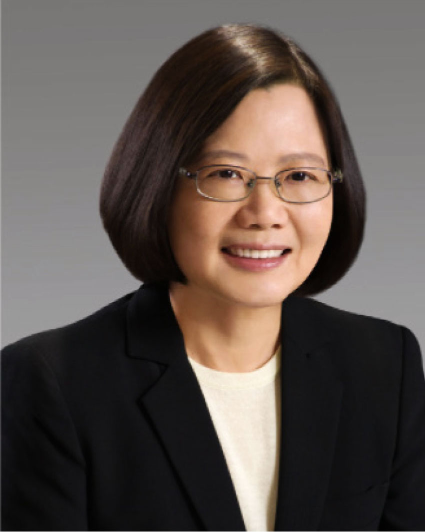 A smiling President, Tsai, Ing-wen