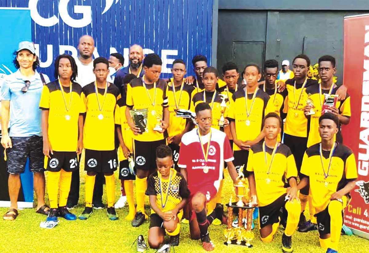 Northern United FC, Gros Islet Football League/ Guardsman (Saint Lucia) Limited 2021 Champions. (Photo: Anthony De Beauville)