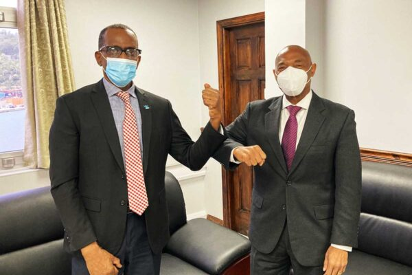 PM Pierre and CDB President Dr. Leon
