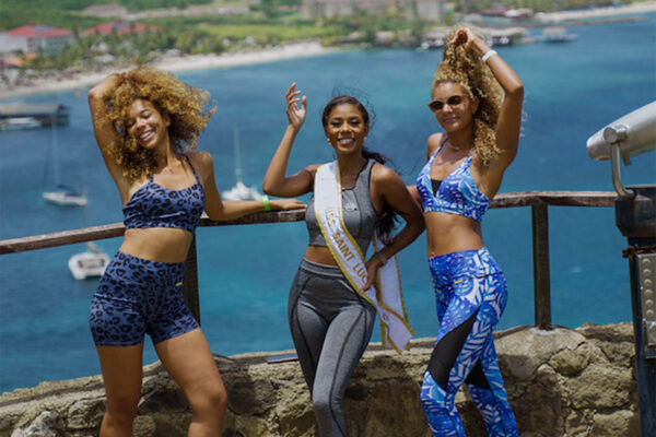 Influencers hike Fort Rodney at Pigeon Island National Park with Miss World Saint Lucia – Tyler Theophane.