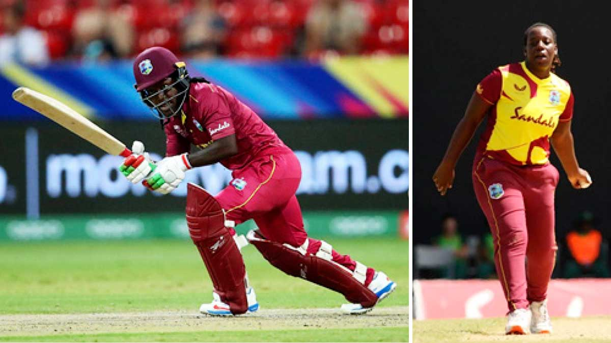 (L-R) Deandra Dotting top scored for the West Indies, Qiana Joseph picked up 2 for 24. (Photo: GI/ CWI)