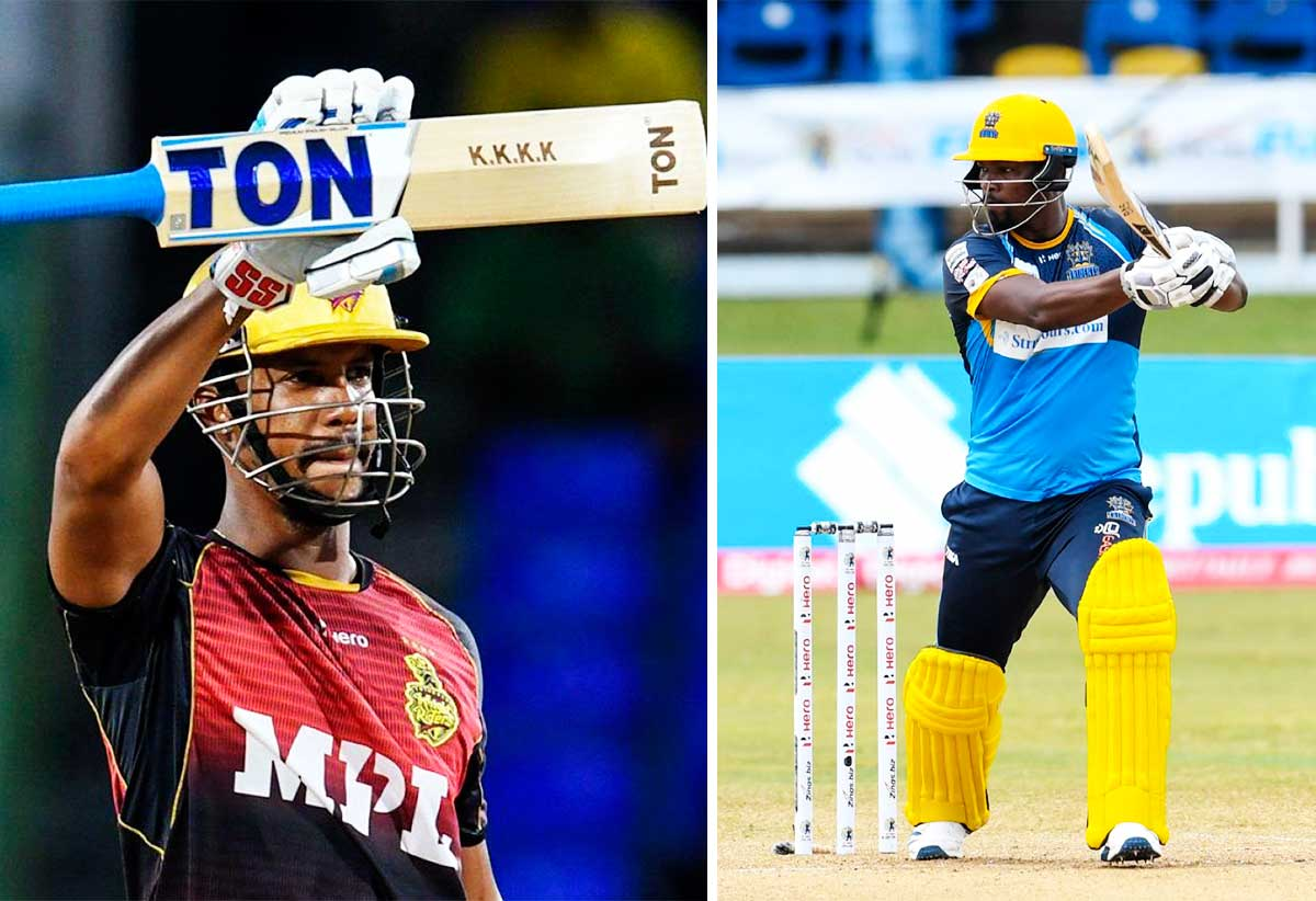 (L-R) Lendl Simmons (70), Barbados Royals opening batsman Johnson Charles will be in action against Saint Lucia Kings on Saturday 11th. (Photo: Photo: Randy Brooks/ CPL 20/ GI)