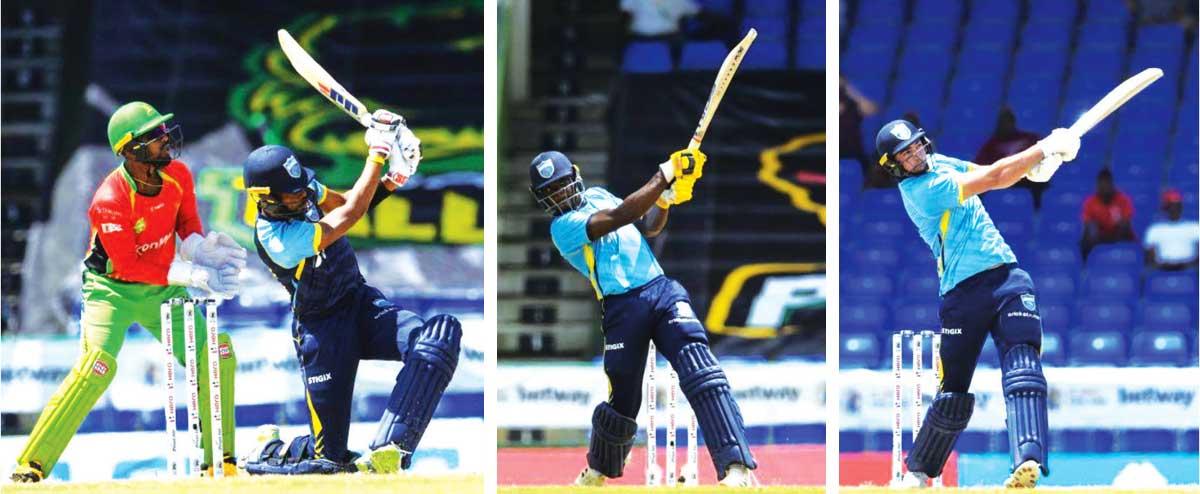 (L-R) Saint Lucia Kings, Roston Chase, Andre Fletcher and Tim David. (Photo: GI)