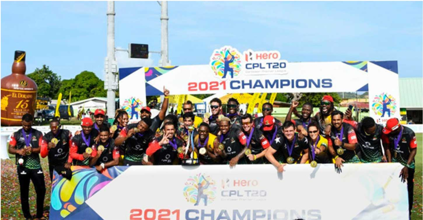 Saint Kitts and Nevis Patriots CPL T20 Champions for 2021. (Photo: CPL T20)