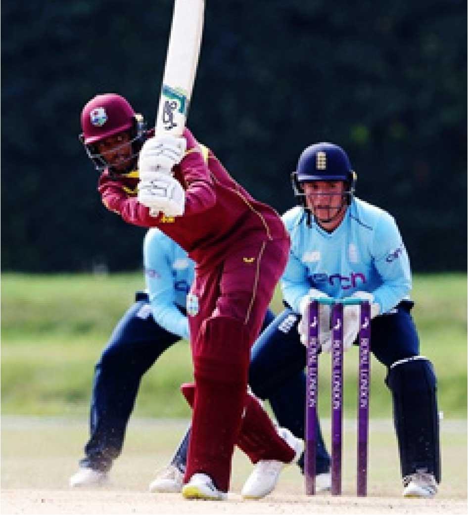 Teddy Bishop scored a brilliant 133 for West Indies U19 in Match No. 3. (Photo: GI)