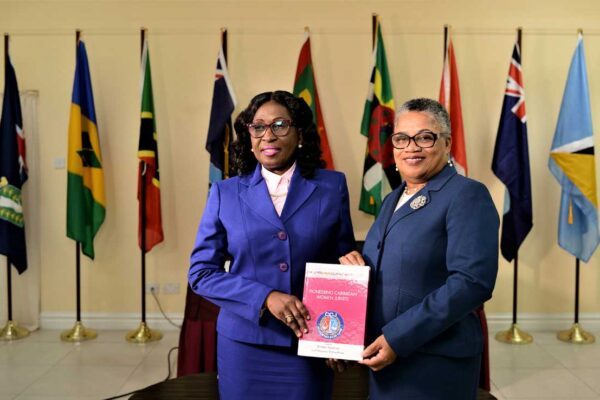 Her Ladyship Justice of Appeal Louise Esther Blenman and Her Ladyship, The Hon. Dame Janice M. Pereira, DBE, Chief Justice.