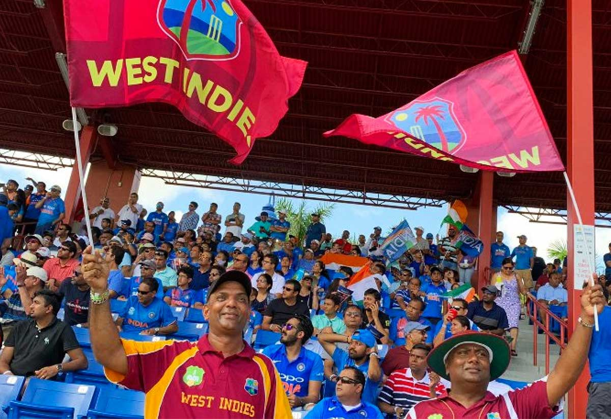 Spectators at a West Indies match.