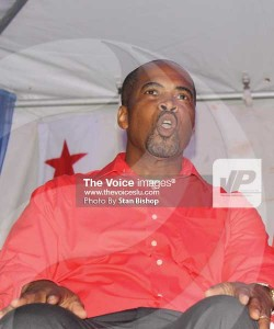 Endorsed candidate for Castries South-East, Joachim Henry. [PHOTO: Stan Bishop]